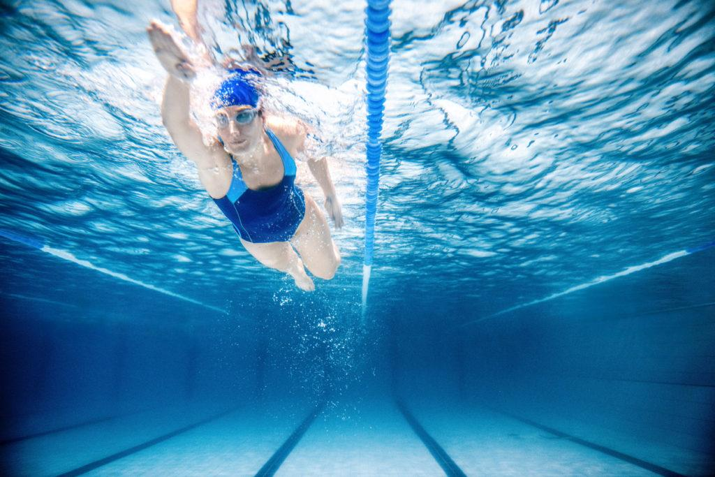 """Find <a href=""""https://www.swimmersguide.com/"""">a pool near you</a> to improve your breath control and endurance for running! You could even take swimming lessons. Credit: ferrantraite."""