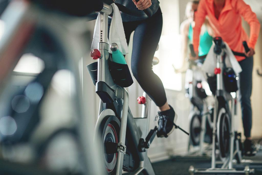 Spinning can be a great way to get some high intensity intervals into your day, even if you don't have much time. Credit: Grady Reese.
