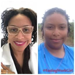 Clark-Ganheart, before and after her weight loss journey with IF.