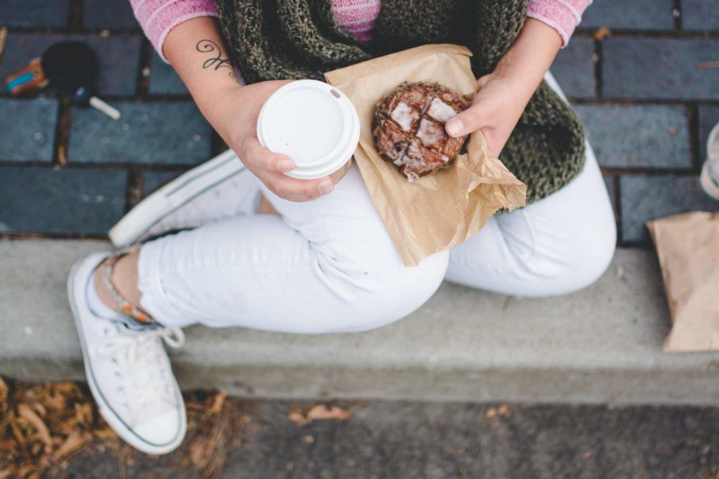A few cups of black coffee won't break your fast or raise your blood sugar much, but you might want to avoid breaking a fast with coffee and high-sugar foods due to risk of hyperglycemia. Image credit: Sarah Swinton.