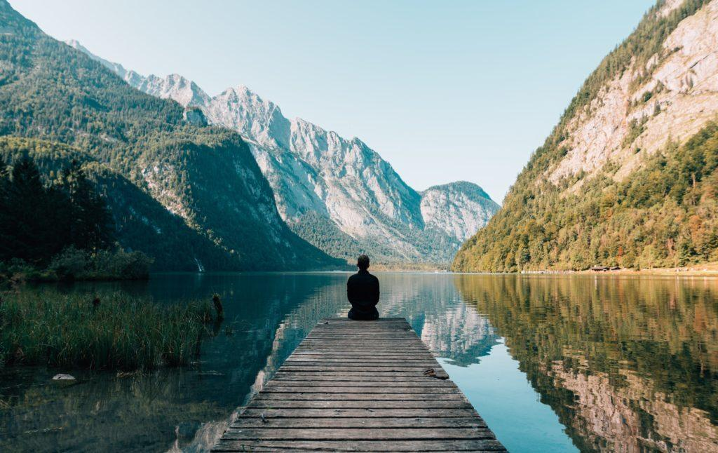 Natural environments often trigger more mindful breathing. Photo by Simon Migaj on Unsplash.